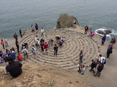 labyrinth on the coast